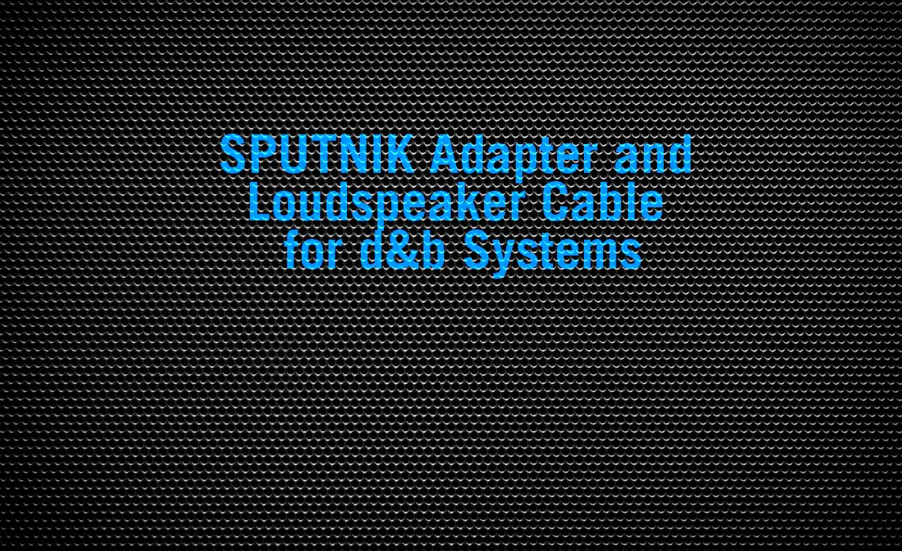 KLOTZ AIS Loudspeaker Cable and SPUTNIK Adapter